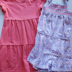 5T girls dress and romper set